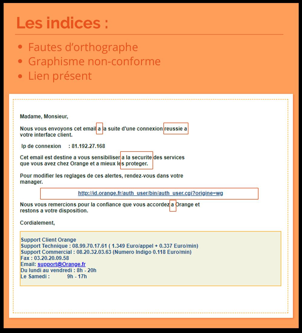 exemple phishing orange